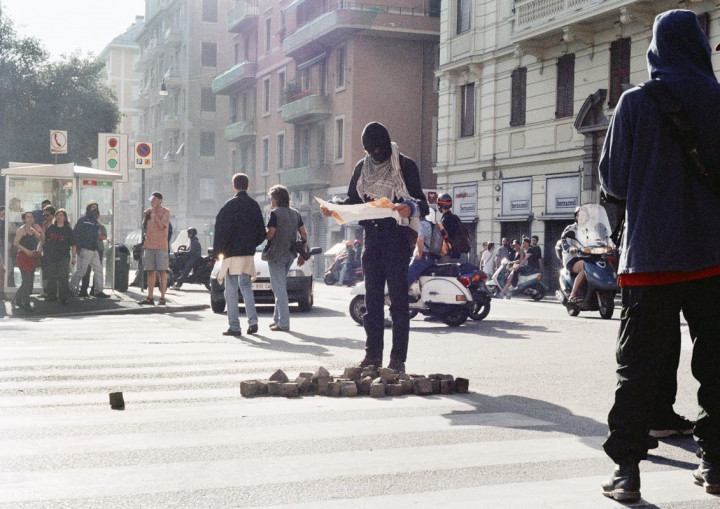Protests against G8 Summit in Genoa V, 2001 (Detail)